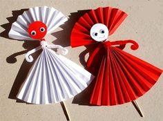 Гармошки из бумаги - Поделки с детьми   Деткиподелки