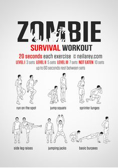 Zombie Apocalypse survival workout.
