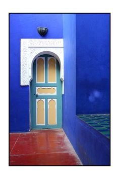 Earth Africa Morocco South Marrakech  mysterious door by fixed