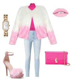 """""""Feeling furry & pink"""" by teneshiacampbell on Polyvore featuring Frame, WithChic, Michael Kors, Dolce&Gabbana and Chanel"""