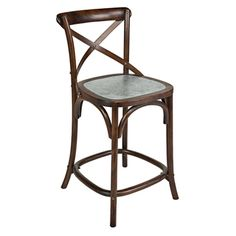 $340 @Overstock - The Portfolio Gabriella 24-inch barstool features a crisscross open back and an elegant contrasting zinc seat. The barstool is a great addition for the kitchen counter, island, bar or simply anywhere you might need an extra seat.http://www.overstock.com/Home-Garden/Portfolio-Gabriella-Bent-Wood-24-inch-Bar-Stool/7317793/product.html?CID=214117 $165.99