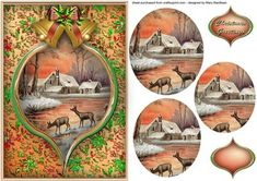 Christmas Sunset Pyramid Card Front