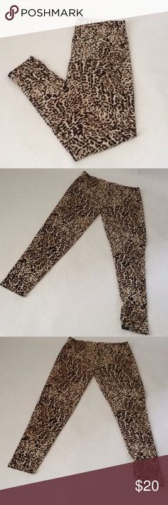 Cheetah Print Leggings These leggings are New and have Never been worn!!                                                                         **Reasonable Offers Only** Say What? Pants Leggings