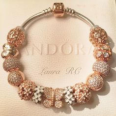 My Pandora rose bracelet WOMEN'S JEWELRY http://amzn.to/2ljp5IH