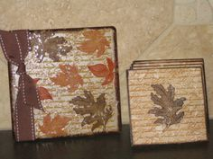 Tile Coasters and Matching 3x3 card