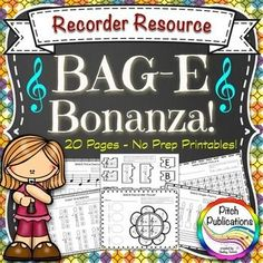 Need a way to give your kids a little extra practice reading and notating BAG-E recorder notes on the staff? Look no further! This 20 page no-prep printable set is for you! This resource is wonderful for differentiating your activities for practicing B, A, G, and E!! #elmused #elementary music #musiceducation #recorder