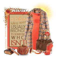 """""""HAPPY Sunday!!!... """"A Worn Bible"""" Dress, Coat & Shoes Under $160"""" by enjoyzworld on Polyvore"""