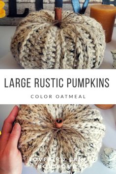 Your place to buy and sell all things handmade Pumpkin Crafts, Fall Crafts, Decor Crafts, Pumpkin Ideas, Harvest Decorations, Fall Mantel Decorations, Halloween Crochet, Fall Halloween, Fall Diy