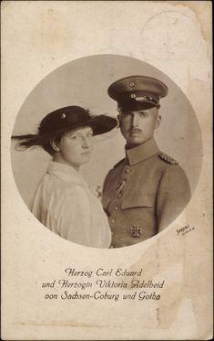 Duc Carl Eduard de Saxe-Coburg Gotha (1884-1954) Viktoria Adelheid de Schleswig-Holstein (1885-1970)