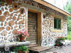 Cordwood!  This site has lots of references/pics.