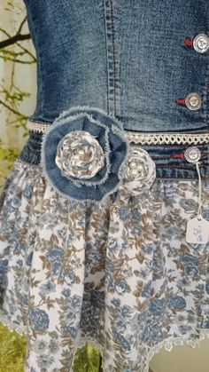 Women's Embellished Refashioned Denim Jacket