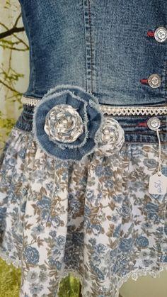 Women's Embellished Refashioned Denim Jacket
