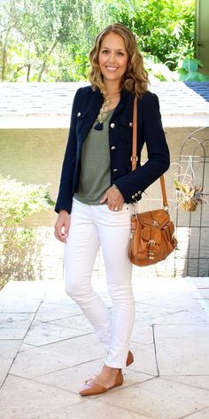 Today's Everyday Fashion: Olive and Navy — J's Everyday Fashion