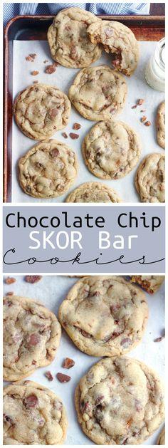 Chocolate Chip Skor Bar Cookies