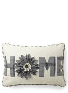 Grey Home Tartan Cushion