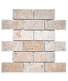 Travertine Brick Mosaic Tile