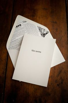Letterpress Note Cards (via Bourbon and Boots)