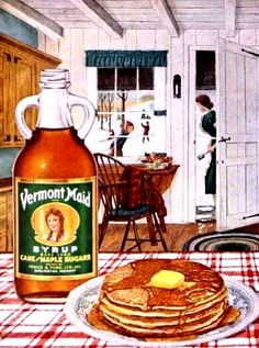 Pancakes & Vermont Maid Syrup 1953