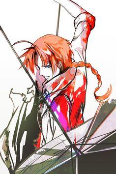 Such a nice fan art Manga Art, Anime Art, Kamui Gintama, Gintama Wallpaper, Silver Samurai, Okikagu, Asuna, Cartoon Shows, Animation