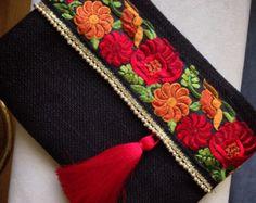 Purple embrayage Tassel sac à main de Bohême par BOHOCHICBYDAMLA