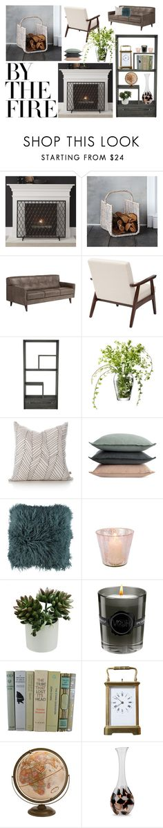 """Staying Warm by the Fire"" by samiedingdong ❤ liked on Polyvore featuring interior, interiors, interior design, home, home decor, interior decorating, Crate and Barrel, Huppé, LSA International and Design Within Reach"