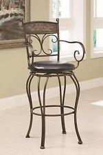 Casual Dining Counter Height Bar Stool Black Bronze Black Coaster 102585