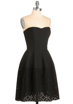 So in Awe Dress. Given how fabulous you look in this black dress, itll come as no surprise when your pals squeal with excitement at the sight of you! #black #modcloth