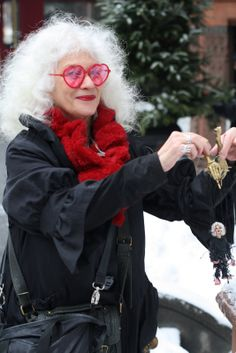 Jane the marionette maker; oh, how cool would it be to be her friend? ~ when will MY hair go white?  LUV!
