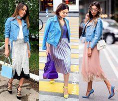 Яркая куртка косуха. Примеры на модных блогерах.