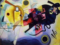 Wassily Kandinsky - Jaune, rouge, bleu, 1925. ◉ [Paris, Centre Georges-Pompidou] Famous Abstract Artists, Abstract Paintings, Artist Painting, Art Paintings, Kandinsky Art, Wassily Kandinsky Paintings, Bauhaus Art, Bauhaus Watch, Bauhaus Design
