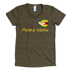 Mwana wevhu Women's short sleeve soft t-shirt