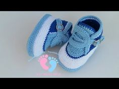Crochet Stylish Tennis Shoes For Baby - We Love Crochet Knitted Baby Clothes, Crochet Baby Shoes, Crochet Slippers, Love Crochet, Baby Tennis Shoes, Baby Boy Shoes, Baby Boots, Baby Converse, Baby Sweaters