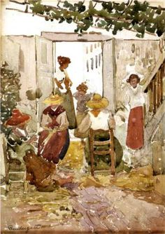 Lacemakers, Venice - Maurice Prendergast