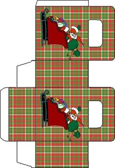 Christmas Gift Box Template, Christmas Printables, Christmas Themes, Paper Box Template, Box Templates, Christmas Paper, Christmas Crafts, Gift Boxes, Favour Boxes