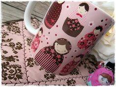 Caneca & Mug Rug MATRIOSKAS ROSE