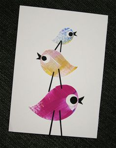 Nursery Art Collage With Birds