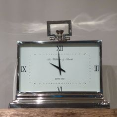 Large Rectangular Roman Numeral Clock Beau Decor Hudson Furniture French Dining Room