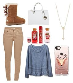 """""""Fall/Winter❄️"""" by gabporto on Polyvore featuring Barbour, Gap, UGG, Michael Kors, Casetify and EF Collection"""