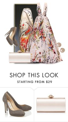"""""""Beads"""" by malathik ❤ liked on Polyvore featuring Jimmy Choo, Forever New and Juliet & Company"""