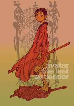 Avatar Aang. Very... Different style right there. I don't know why but i love this picture of Aang.