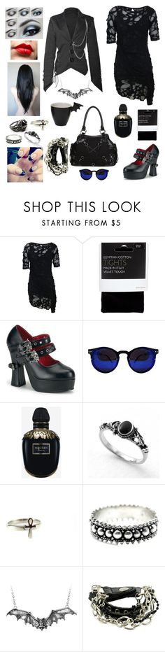 """bats"" by banasheeanni ❤ liked on Polyvore featuring Religion Clothing, John Lewis, Demonia, Banned, Alexander McQueen and Zara Taylor"