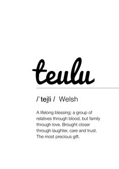 Fika prints, welsh family, welsh home, welsh home decor, wales, cymru, cymraeg, teulu, cwtch, lush, cartref Welsh Sayings, Welsh Words, The Words, Cool Words, Small Words, One Word Quotes, Quotes To Live By, Pretty Words, Beautiful Words