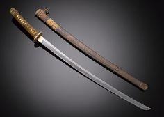 "Katana Sword Dated: century Culture: Japanese Measurements: overall length 36 ½"" blade length 27 Katana Swords, Samurai Swords, Knives And Swords, Japanese Sword, Japanese Blades, Japanese Mask, Samurai Warrior, Sticks And Stones, Kendo"