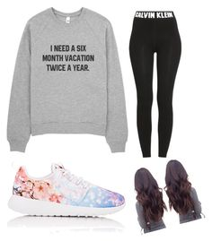 """Untitled #1"" by joellesummertownsend ❤ liked on Polyvore featuring moda, Calvin Klein e NIKE"