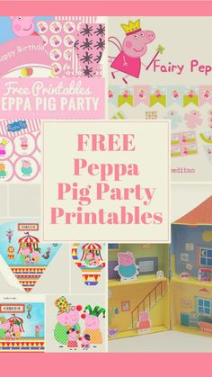 Peppa Pig Birthday Party idea, crafts and free printables.