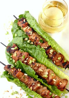 Fire up the grill, open a bottle of white wine and throw these Thai coconut pork skewers on the grill.