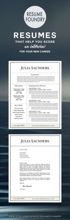 Elegant resume template Instant download, for use with Microsoft - ms word resume templates download