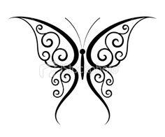 Butterfly tattoo Royalty Free Stock Vector Art Illustration