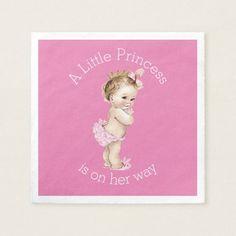 A Little Princess Baby Shower Pink Napkin