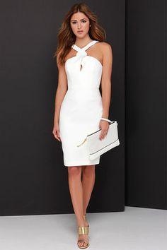 Keepsake New Bloom Dress - Ivory Midi Dress - White Dress - $139.00